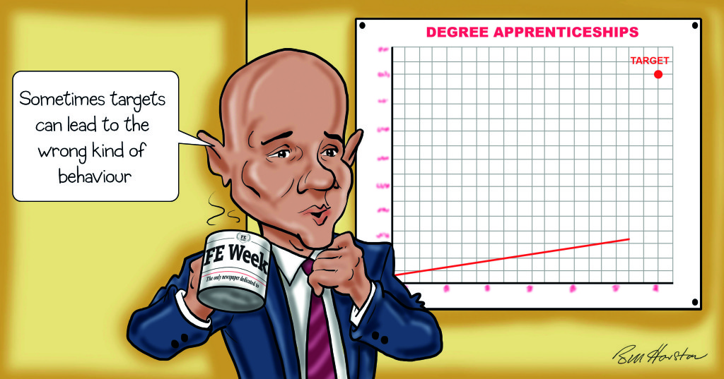 Sajid Javid rules out degree apprenticeships target as too 'complex'