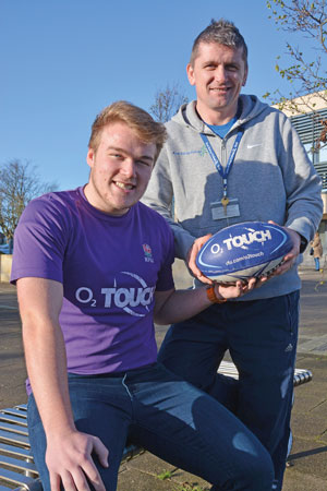 Matty with East Riding College sport maker Matt Jeffery