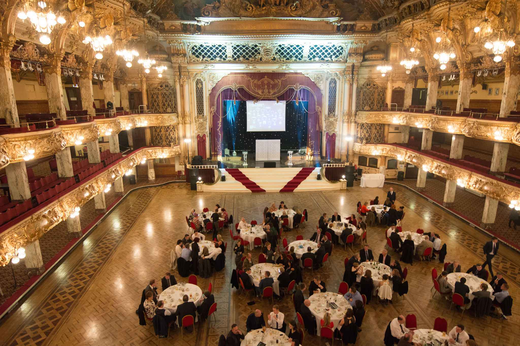 Tower Ballroom in Blackpool was venue for the North West ceremony, October 12