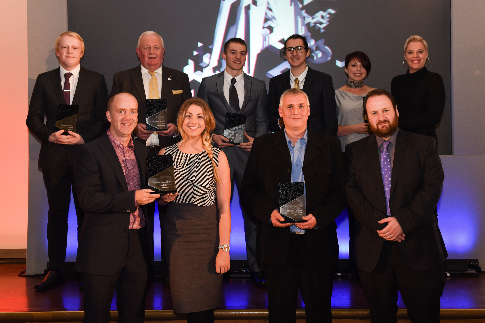 The North East award winners at the Discovery Museum in Newcastle October 15
