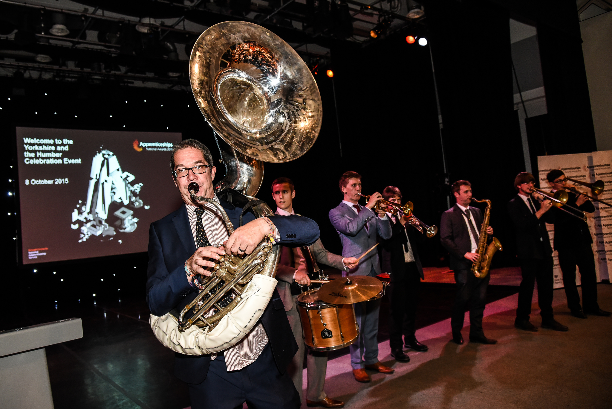 Musical entertainment at the North West Apprenticeship Awards, October 12