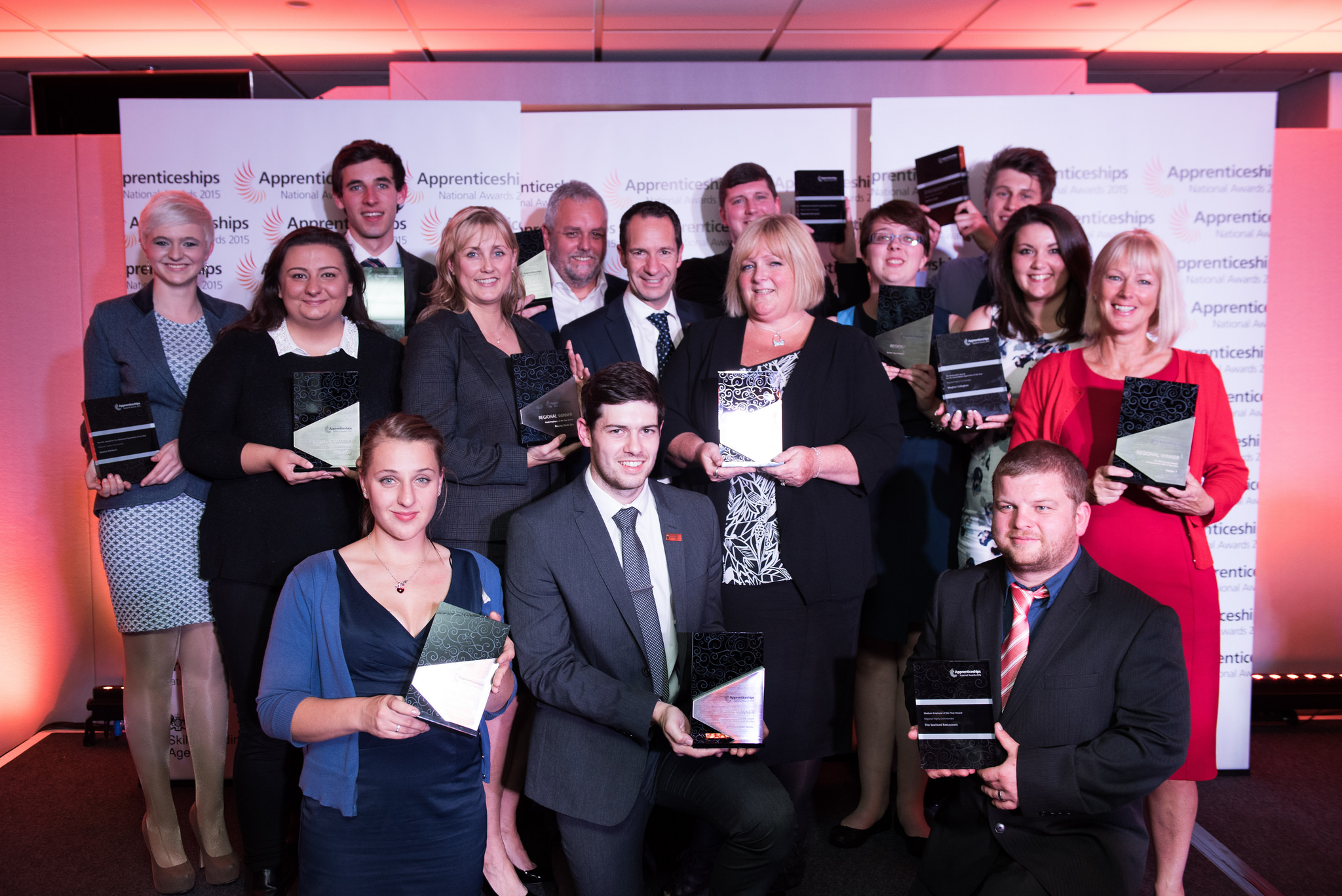 All winners and highly commended at the awards in the South West venue, Somerset Country Cricket Club, October 13