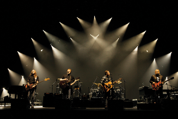 The Eagles during a live performance
