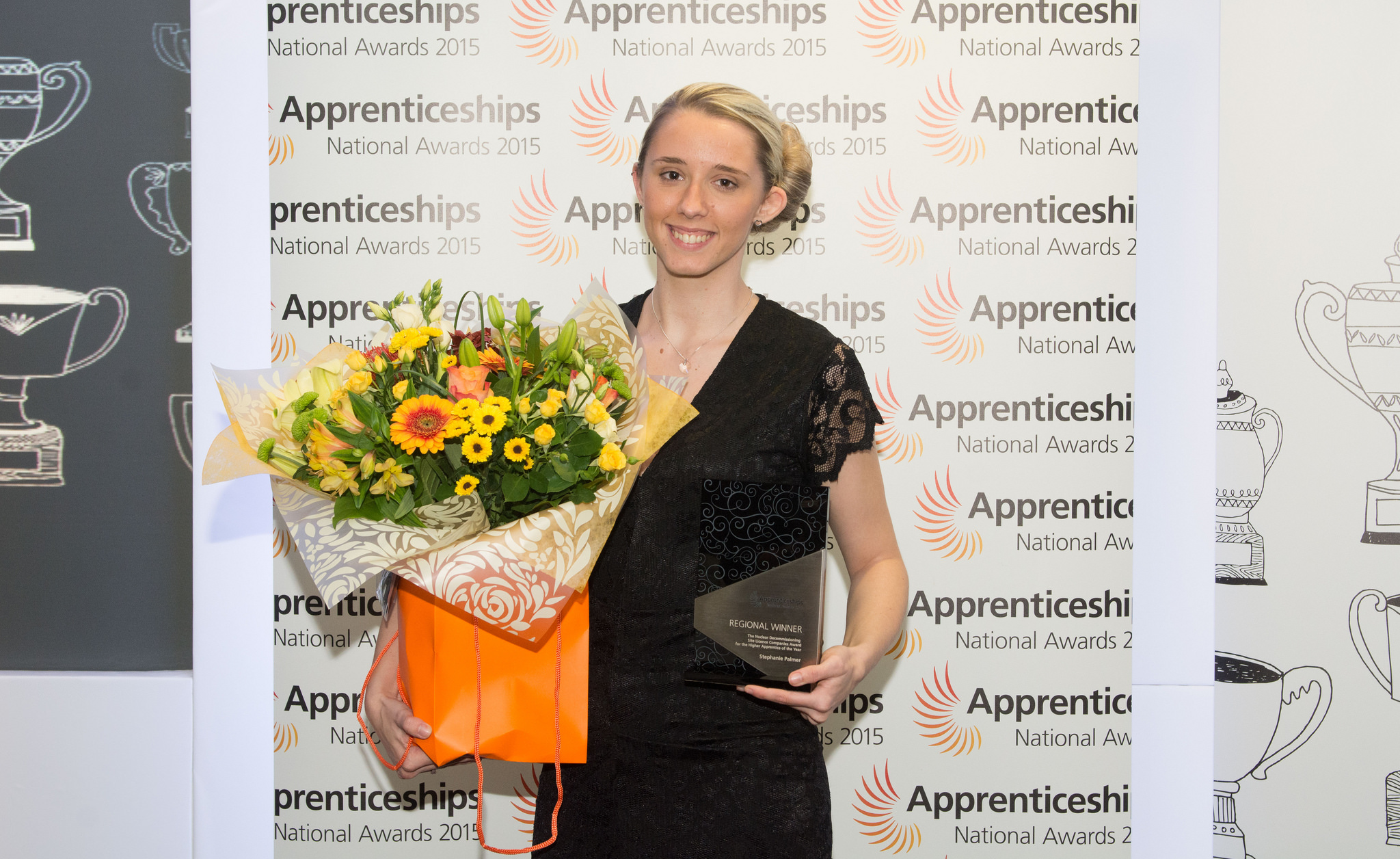 Stephanie Palmer, level four, winner Higher Apprentice Fujitsu at West Midlands Apprenticeship Awards on October 8