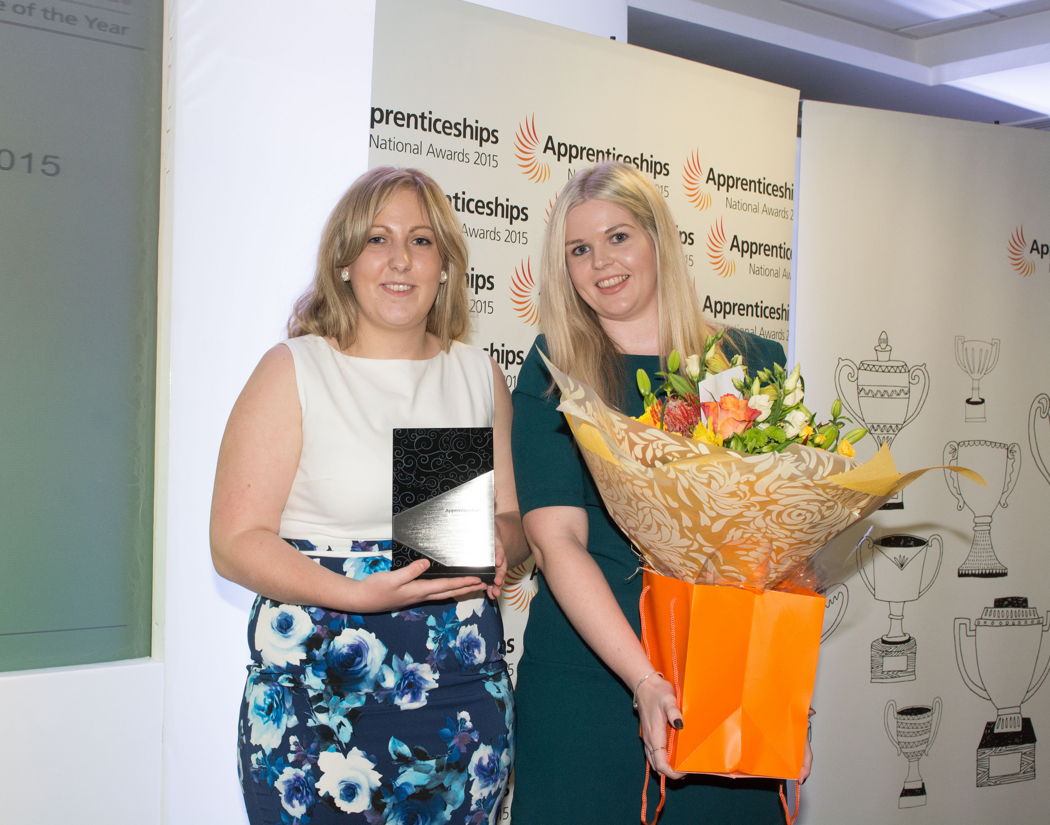 (L-R) Winner of the MacDonalds Award for Intermediate Apprentice of the Year - Kathleen Sandford, level two, (left)The Community Housing Group with Evie Brookes, the West Midlands Young Apprentice Ambassador, The Community Housing Group, October 8