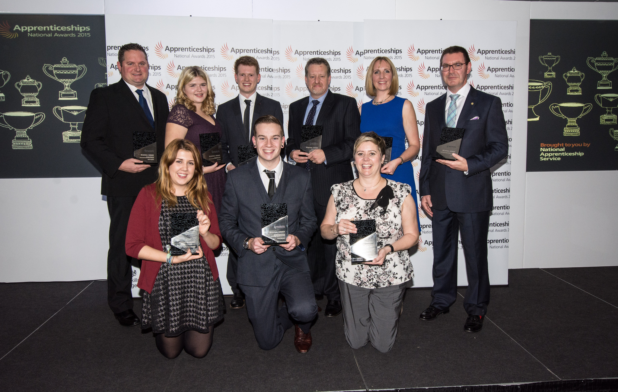 The winners at the South West, Thames Valley and Solent awards ceremony