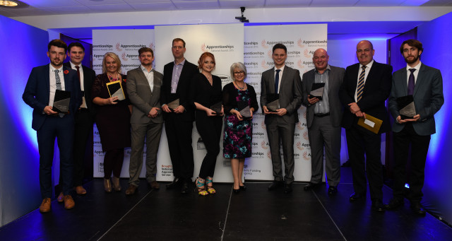 The winners at the East of England awards ceremony