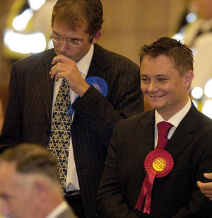 Wright just before he was elected as Labour MP at the Hartlepool By-Election in 2004 (Photo by Matthew Lewis)