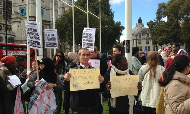 Esol funding cuts protest rally draws hundreds from across FE