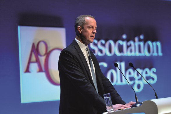 Staring into the funding abyss - Skills Minister Nick Boles paints stark picture of cuts to hit sector