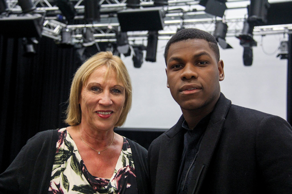John Boyega with South Thames College principal Sue Rimmer
