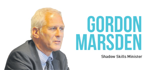 Chancellor George Osborne's FE funding protection 'a cut in real terms' — Shadow Skills Minister Gordon Marsden