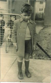 Pollard aged four in 1950
