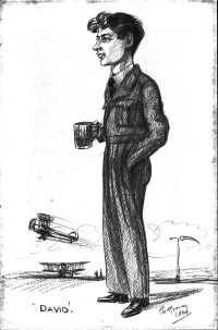 A drawing of Pollard, by artist Pat Rooney, when he was in the Royal Air Force in 1964