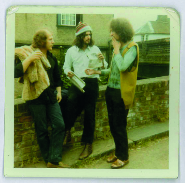 "Coates (centre) with friends in his ""hippy phase"" as a student in 1968"
