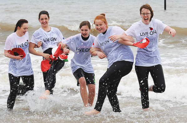 Bracing North Sea dip to warm veterans' hearts