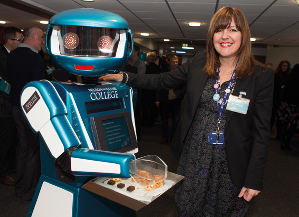 Robot hands out canapés