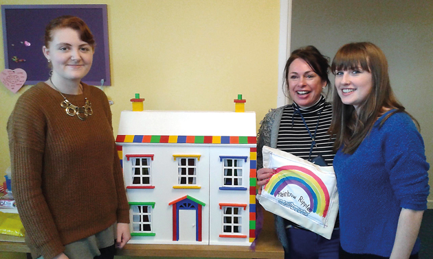 Model learners renovate dolls house