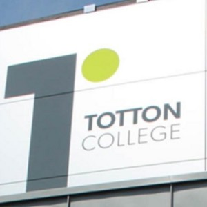 Totton College sign