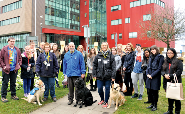 Charity walk for guide dogs