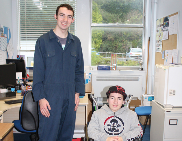 Students innovate to help disabled colleague