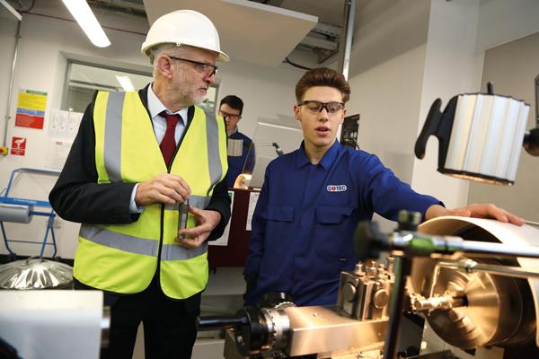 Corbyn visits Middlesbrough