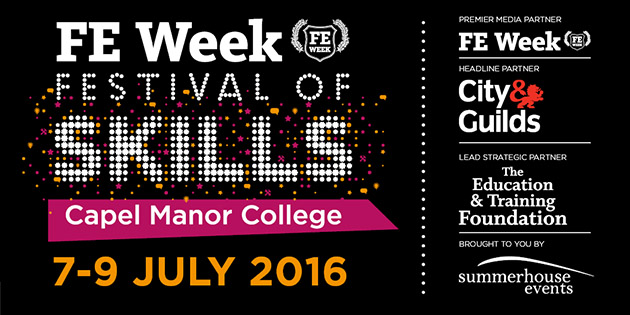 Three-day Festival of Skills announced for staff in FE