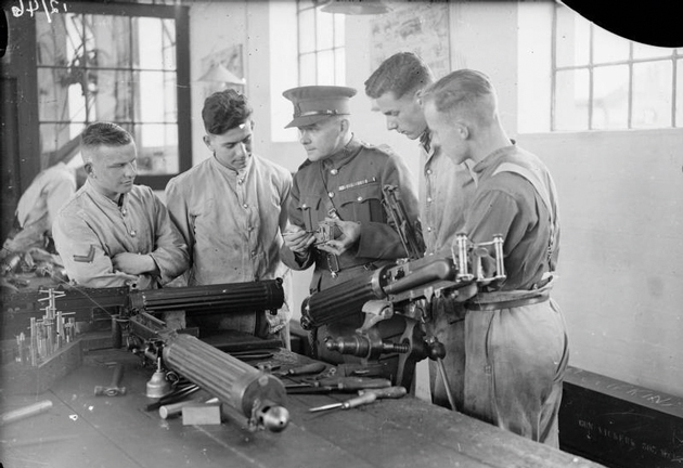 Apprentice-100-2---IWM-Apprentices-receive-instruction-on-dismantling-a-Vickers-Machine-Gun-at-the-Royal-Army-Ordnance-Corps-Depot-atweb