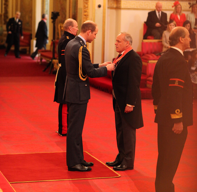 Doel collects CBE from Duke of Cambridge
