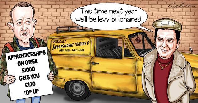 Osborne's budget reveals 10 per cent levy top-up