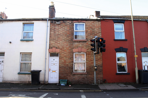 The two-bedroom terraced house in Tredworth