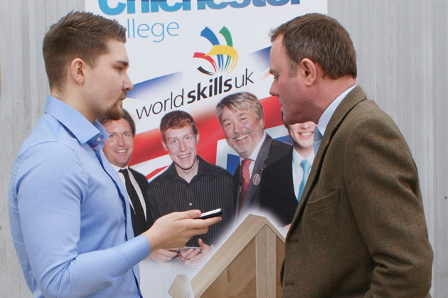 Reporter Billy Camden talks with Nick Herbert MP for Arundel and South Downs about WorldSkills
