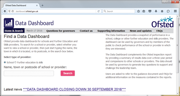 Data dashboard to shut down after just two years