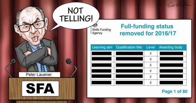 Agency under fire for refusing to list changes to quals