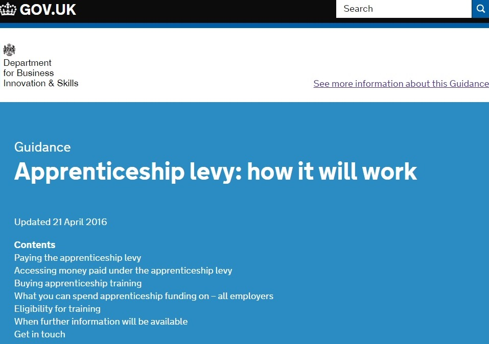 Revealed: apprenticeship levy operating model