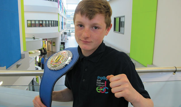 East Durham Student is kickboxing clever