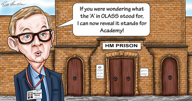 Here we Gove again: Now we're getting academies for prisons