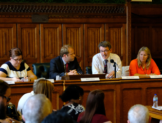 Panel from left: Gemma Gathercole, Nick Linford, Mark Dawe and Jean Duprez