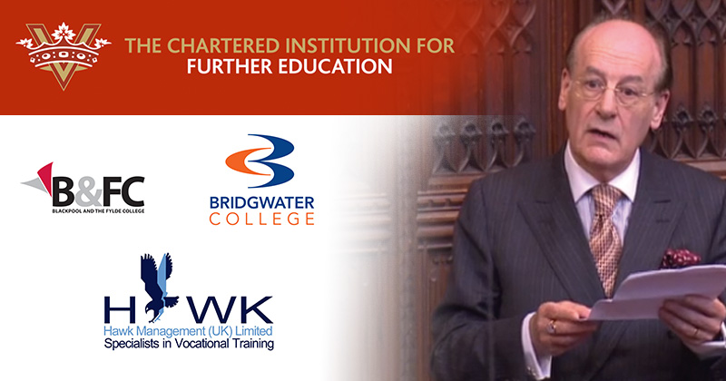 First three FE institutions to get chartered status announced