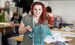 Art and design student manages sew much, sew young