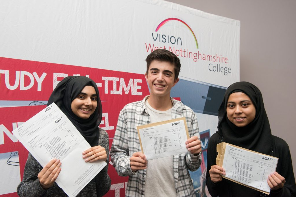 Sophia Parvaiz Tyler Garton and Alippa Uddin - West Notts College
