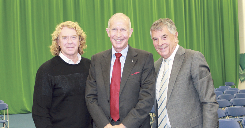 Football legends talk career goals at Bracknell college