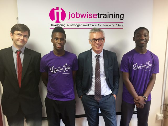 David Hill and Jonathan Slater at Jobwise