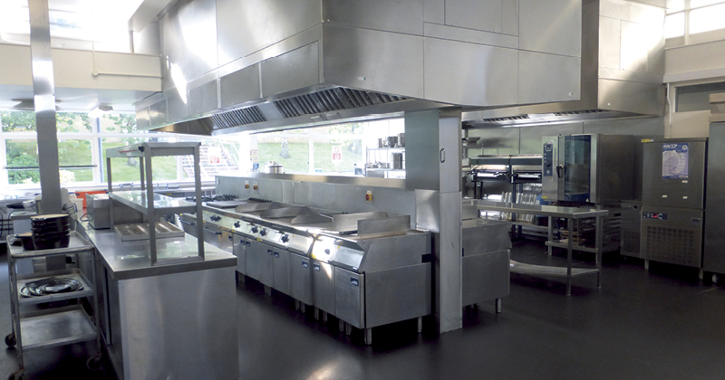 Yorkshire Coast College training kitchen