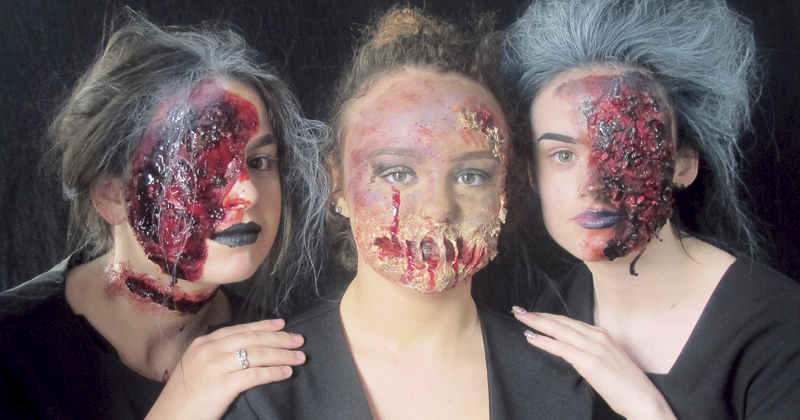 Students set to terrify with specialist make-up