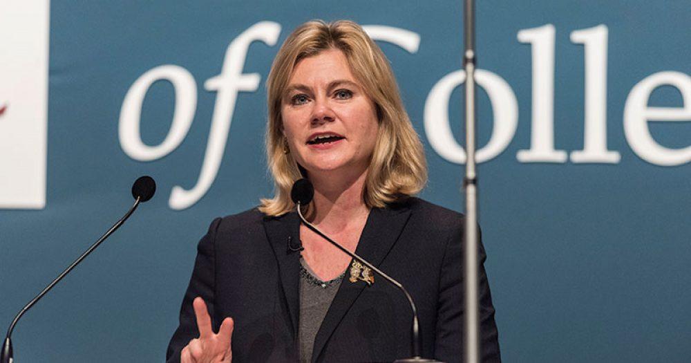 Justine Greening at AoC conference 2016
