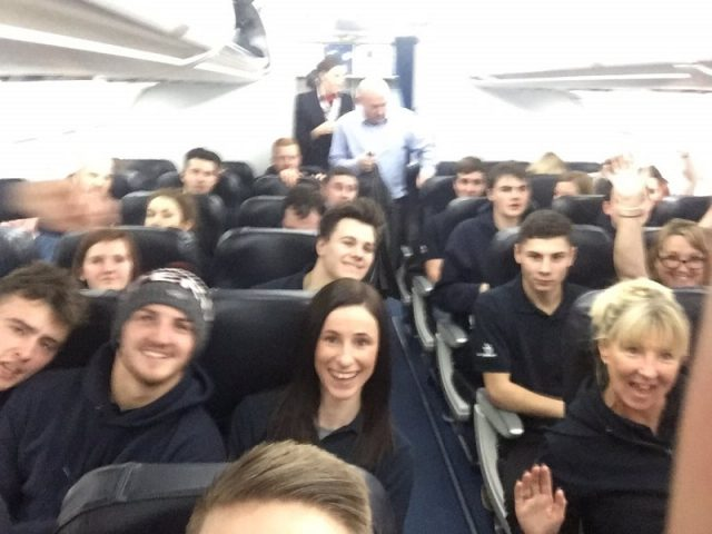 Plane selfie with Team UK