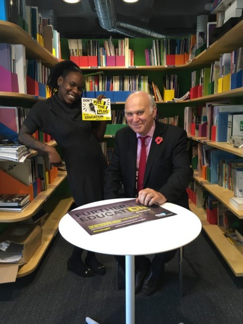 Shakira Martin with Sir Vince Cable at the launch event today