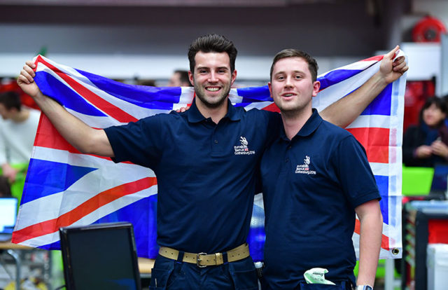 Mechatronics bronze medallists Thomas Revell (left) and Sam Hillier (right)