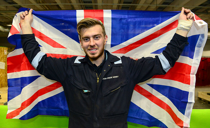 Team UK's golden success at EuroSkills closing ceremony